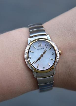 Скидка! женские часы с бриллиантами bulova подарок девушке на 8 марта4 фото