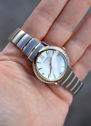 Скидка! женские часы с бриллиантами bulova подарок девушке на 8 марта7 фото