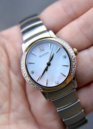 Скидка! женские часы с бриллиантами bulova подарок девушке на 8 марта2 фото