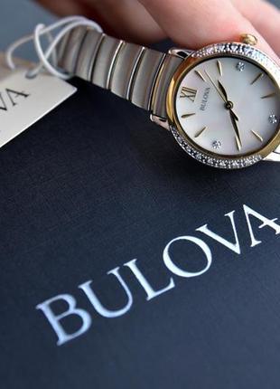 Скидка! женские часы с бриллиантами bulova подарок девушке на 8 марта9 фото