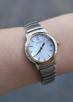 Скидка! женские часы с бриллиантами bulova подарок девушке на 8 марта3 фото
