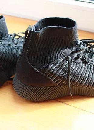 Космические высокие кроссовки нереально легкие с носком zara man