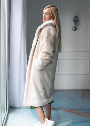 Красивенная эко шуба из меха люкс tissavel (франция), р.с-м