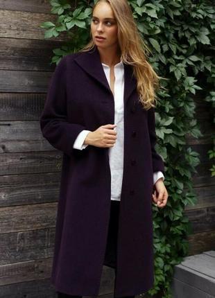 Шерсть+кашемир!!!  пальто а-силуэта  damo donna.
