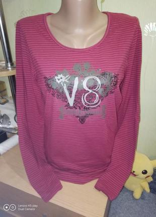 Нежный бордовый трикотажный ,лонгслив ,рубашка m-l