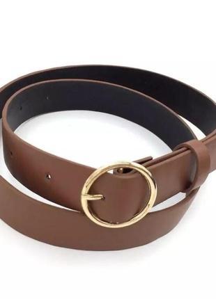 Ремень коричневый кольцо круг
