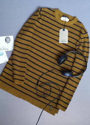 Подовжений джемпер свитер zara