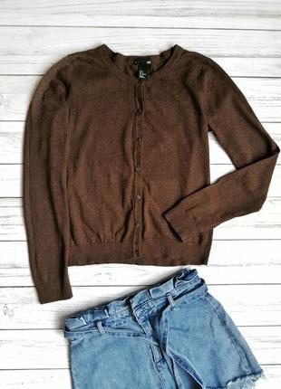 Базова коричнева кофта, пуловер, світер,хлопок