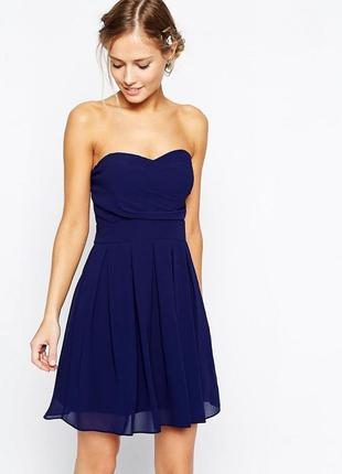 Коктейльна синя сукня
