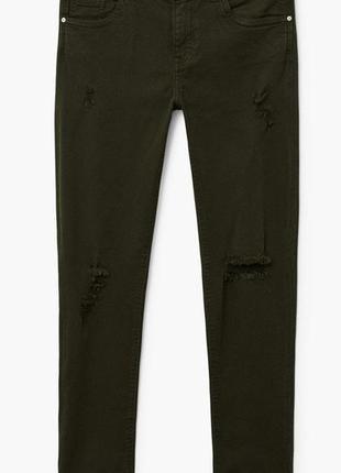 Джинсы с заниженной талией mery mango 34 рваные женские джинсы