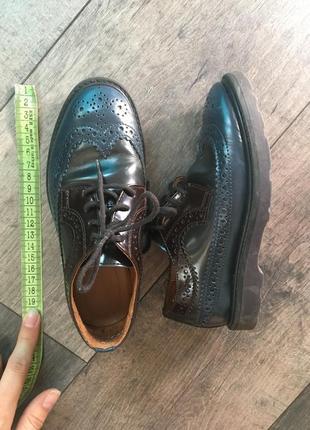 Туфли  кожаные на мальчика броги оксфорды paul smith