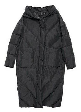 Зимнее пальто пуховик оверсайз стеганное oversize