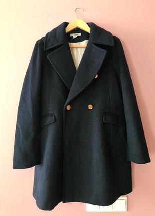 Пальто шерстяное h&m