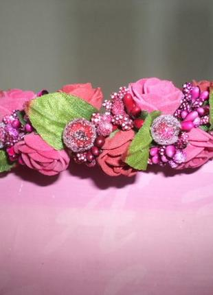 Обруч венок ободок с цветами