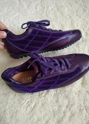 Итальянские кожаные кроссовки daniele lepori