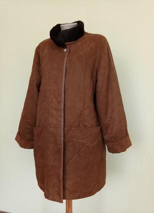 Теплая куртка на синтепоне под замшу