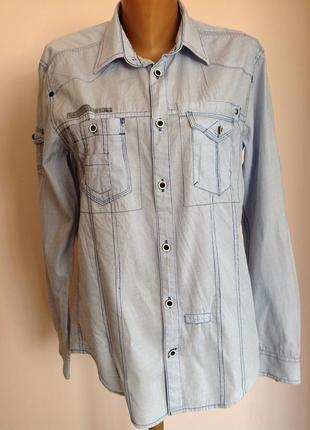 Стильная спортивная  мужская рубашка в полоску. /m/ brend jack& jones