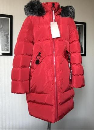 Зимняя красная куртка
