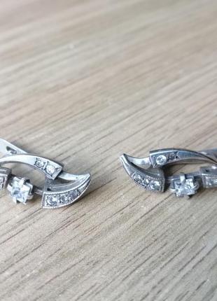 Сережки срібні, серебряные, б/у