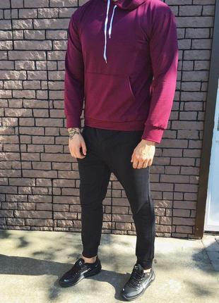 Мужской спортивный костюм - чёрно-красный