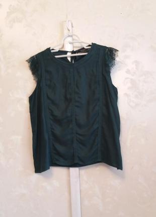 Вискозная блуза-майка с кружевными плечиками  dorothy perkins