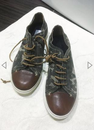 Туфли кеды милитари замша 26,5 см
