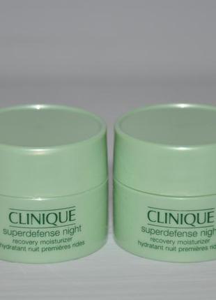 Ночной крем clinique superdefense night recovery moisturizer (мини)