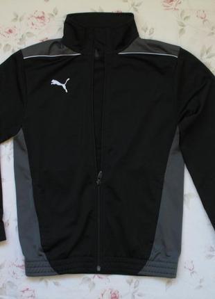 Спортивная черная кофта на молнии рост 140