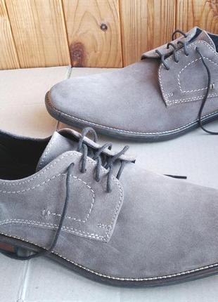 Стильные полностью кожаные удобные туфли ботинки pier one