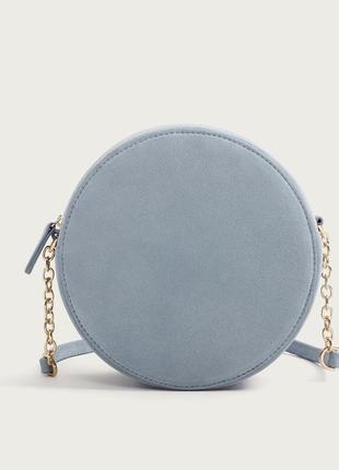 Замшевая кожаная круглая сумка натуральная кожа замш