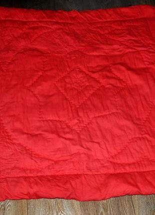 Одеяло-матрас красный ватный толстый легкий теплый 110*110 см