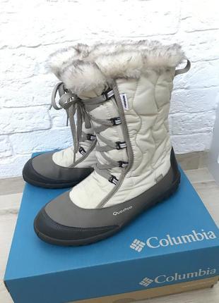 Зимние ботинки сапоги спортивные quechua tika lady beige