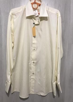 Рубашка мужская l&viktor c запонками 020 (l)