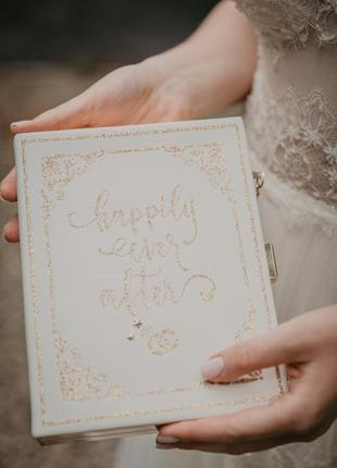 Свадебная сумка-книжка, весільна сукня