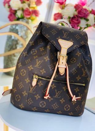 Рюкзак средний сумка канва кожа натуральная