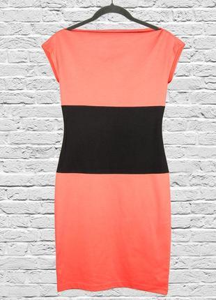 Офисное платье демисезонное, классическое платье, строгое платье оранжевое