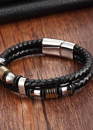 Кожаный именной браслет strength