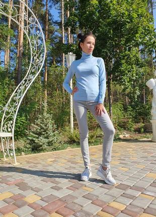 Женские джинсы серого цвета denim cpllection (италия) размер s и m