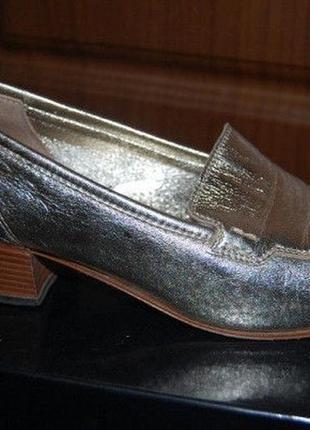 Итальянские туфли лоферы кожа