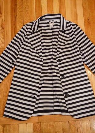 Новый натуральный состав пиджак casual в полоску