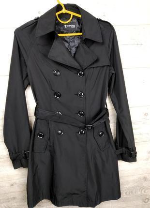 Черный тренч пальто плащ