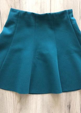 Женская расклешенная  бирюзовая юбка forever 21