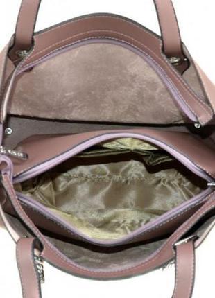 Стильная сумка с клатчем-косметичкой2 фото