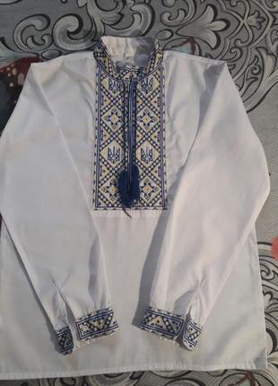 Вышиванка, рубашка, рубашка- обманка 8-11 лет