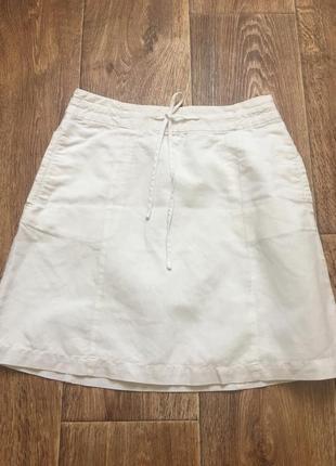 Короткая летняя юбка с карманами