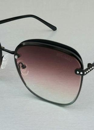 Bvlgari очки женские солнцезащитные розово коричневые