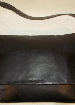 Большая мужская сумка *r j r* натуральная кожа