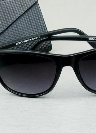 Gucci очки мужские солнцезащитные черные с красным