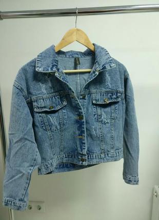 Джинсовка джинсовая куртка оверсайз