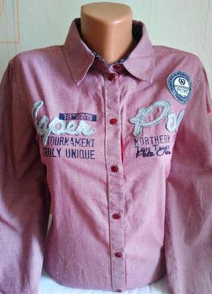 Бомбезная рубашка tom tailor polo team, оригинал.